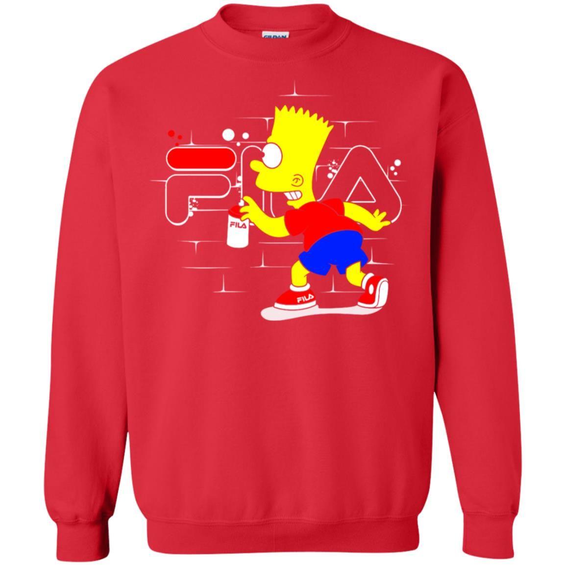 Fila Bart Simpson Pullover Sweatshirt Zamrie Sweatshirts Bart Simpson Bart [ 1155 x 1155 Pixel ]