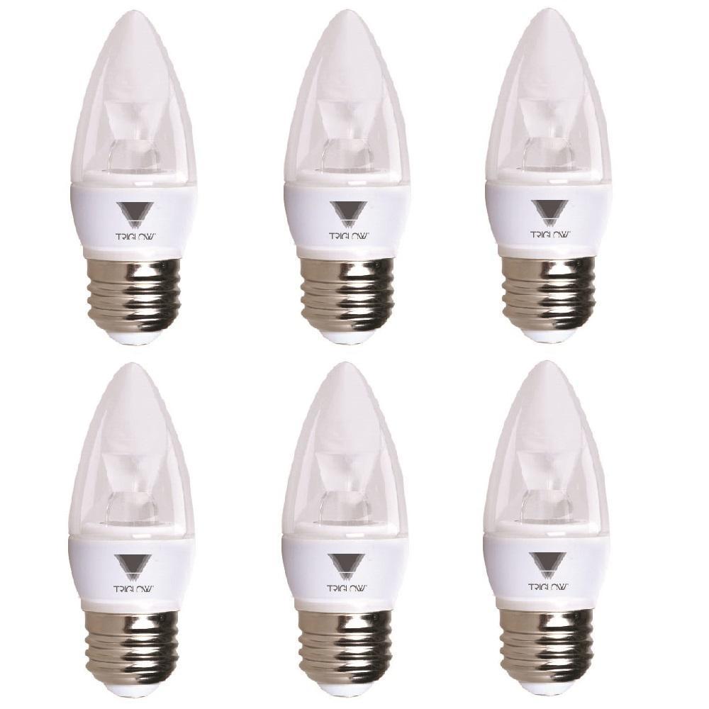 40 Watt Equivalent B11 Dimmable E26 Base Candelabra Torpedo Led Light Bulb Warm White 2700k 6 Pack Led Light Bulb Bulb Dimmable Light Bulbs