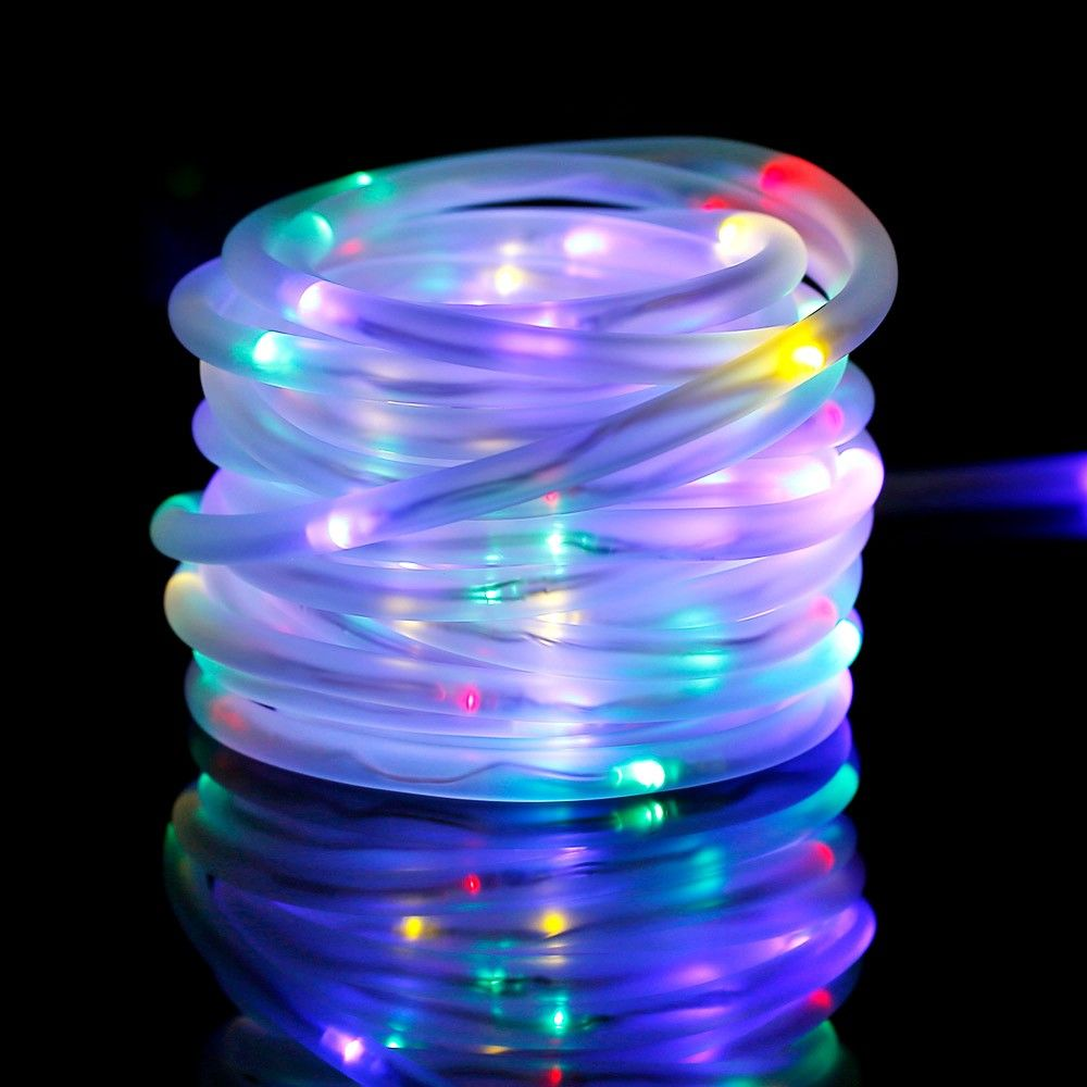 huge inventory 3d5f8 b2034 33ft RGB Solar Rope Lights, Waterproof, 100 LEDs, Red/Green ...