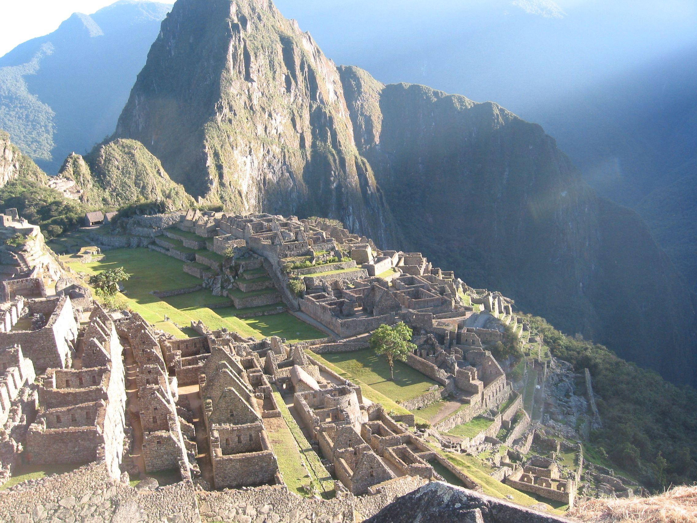 Machu Picchu at sunrise