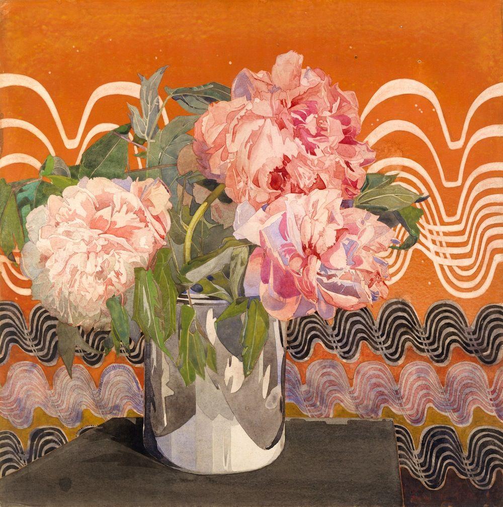 Peonies, by Charles Rennie Mackintosh, ca 1920