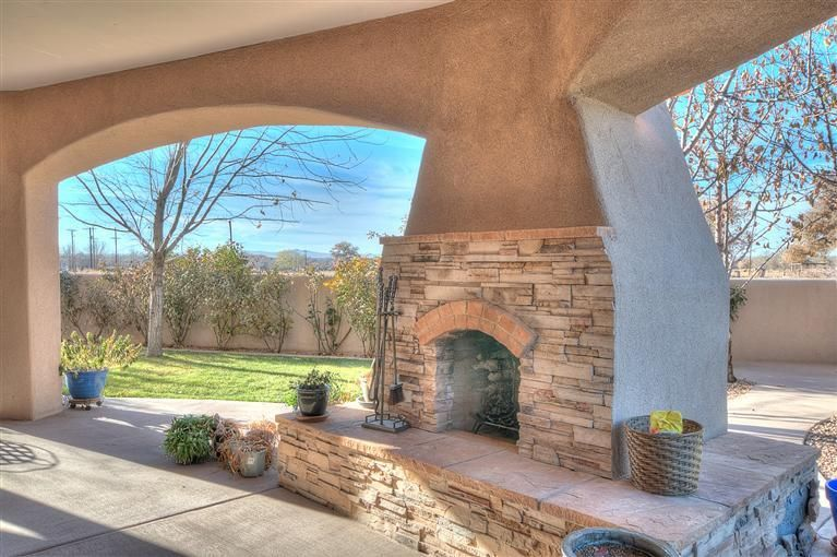 Outdoor Fireplace Home For Sale 5709 Tierra Viva Pl Nw Albuquerque