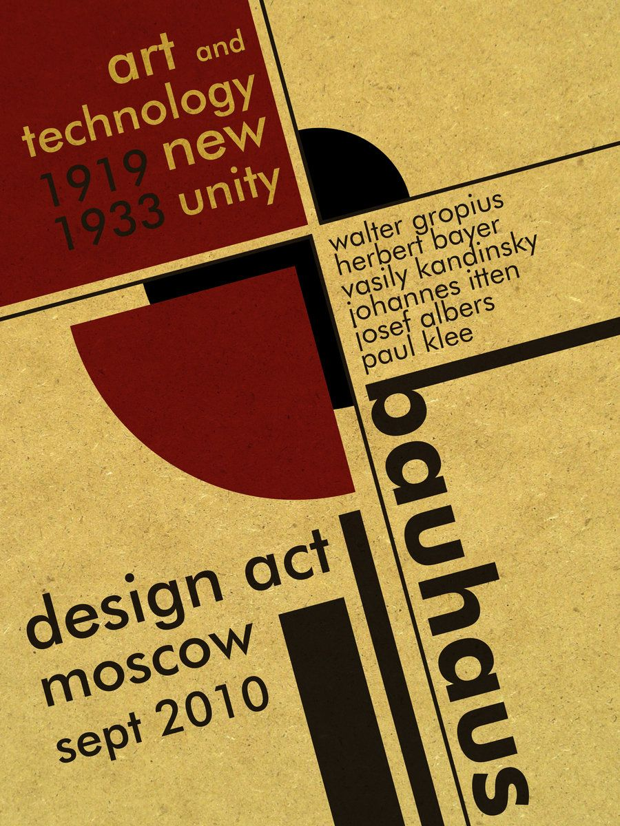 Poster design history - Bauhaus A Little Design History