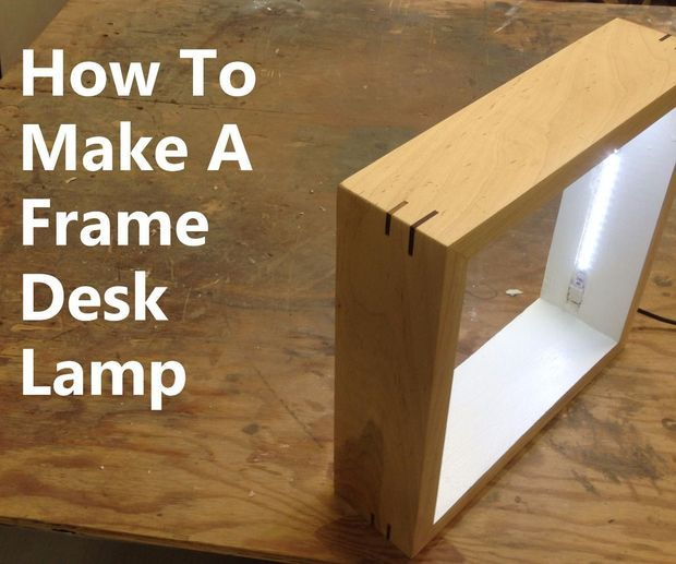 Picture Frame Desk Lamp Ahsap Isleme Lamba Dekorasyon