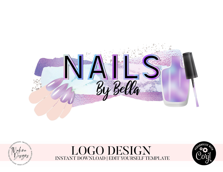 NAIL LOGO DESIGN, nails Logo, Logo design, Logo, Premade