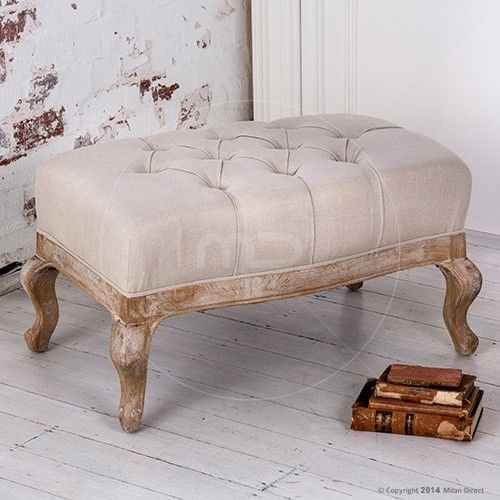 Maxime Ottoman Small   French Provincial Furniture