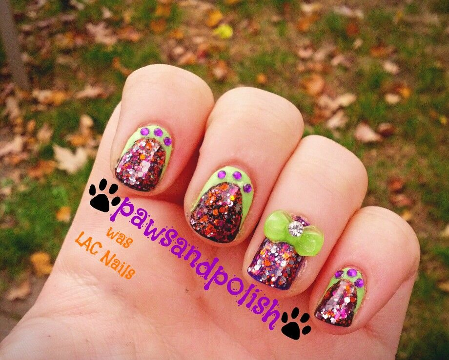 Halloween manicure done with pipedream's feed the monster ...