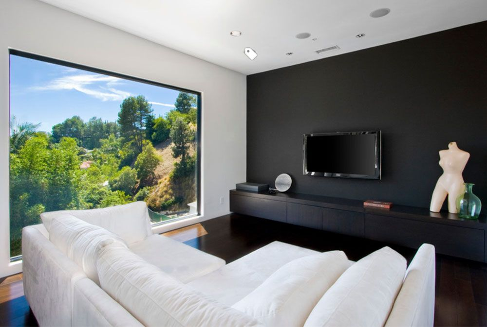 Black Walls Ideas For Your Modern Interiors 47 Pictures Accent Walls In Living Room Black Walls Living Room Black Accent Walls
