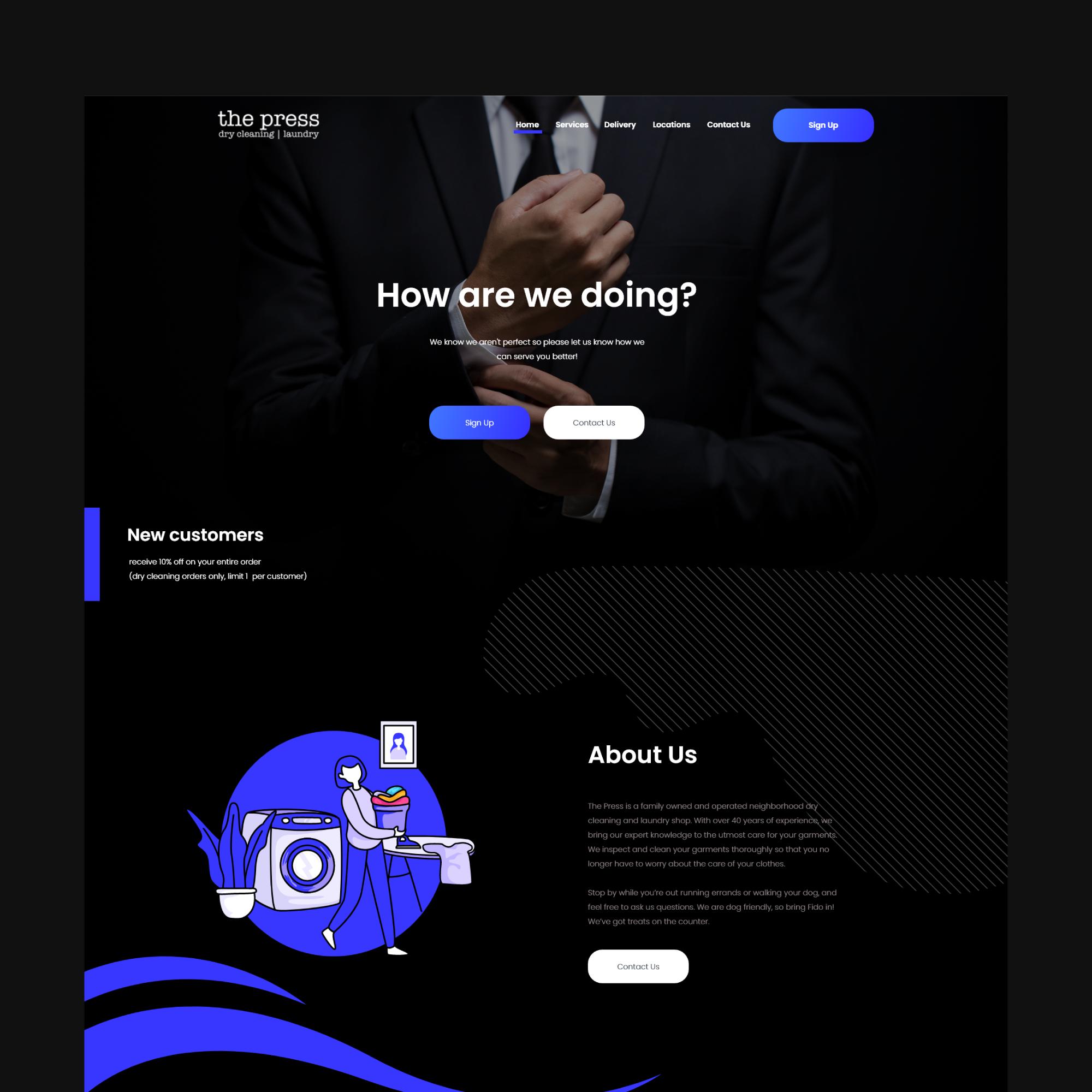 The Press Website Design In 2020 Website Design Creative Web Design Web Design
