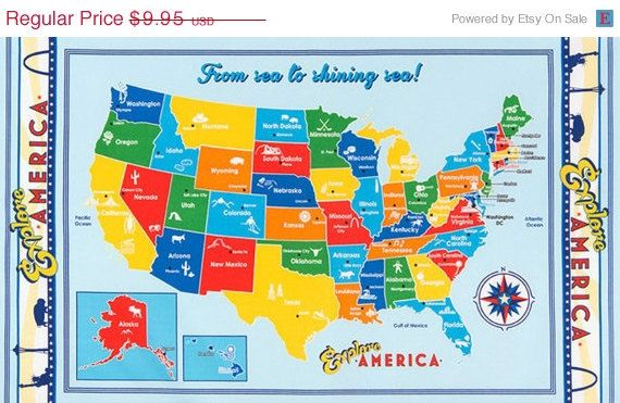 On sale explore america usa map quilt fabric by lauriesfabrichouse on sale explore america usa map quilt fabric by lauriesfabrichouse gumiabroncs Choice Image