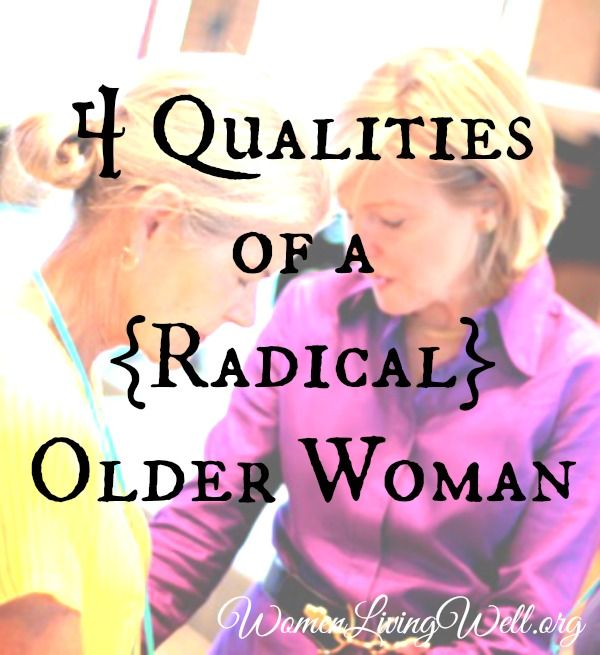 Older women – this post is for you! Younger women – this post is for you too! Today – we leave off where I finished last week in our discussion of what a {radical} woman looks like. For the next few weeks we will be going virtue by virtue through Titus 2 and looking at what God has called women to be. I feel like I am straddling the older and younger category these days. I have the sun spots and gray hair coming in to prove it. Lol! So I guess I would consider myself – middle aged (I'm …