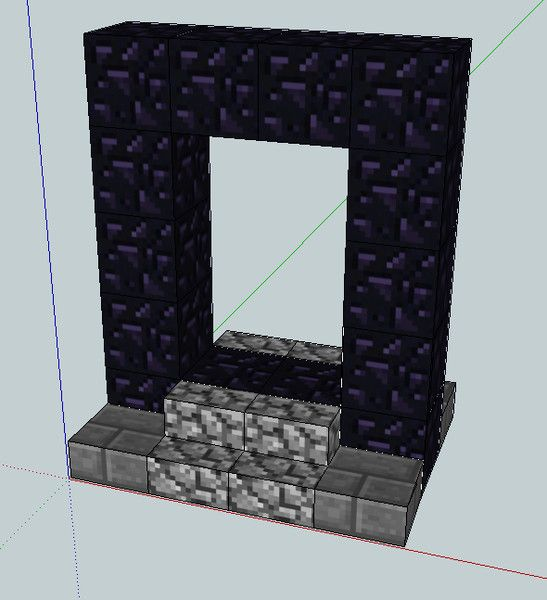Minecraft Nether Portal | Cool minecraft and LEGO stuff | Pinterest ...