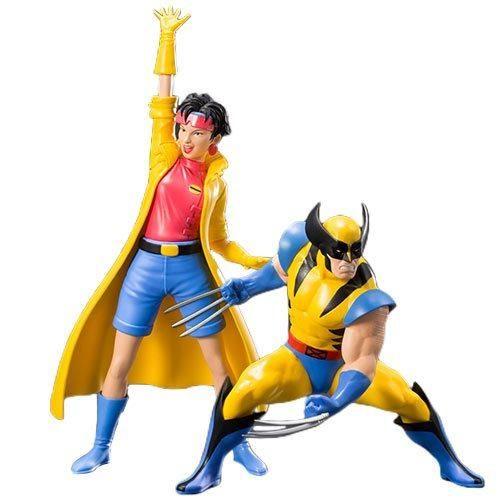 Kotobukiya Marvel Universe X Men 92 Wolverine And Jubilee 2 Pack Artfx Statue Marvel X Wolverine Marvel