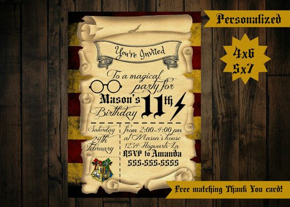 Harry potter invitation printable harry potter birthday harry potter invitation printable harry potter birthday invitation filmwisefo