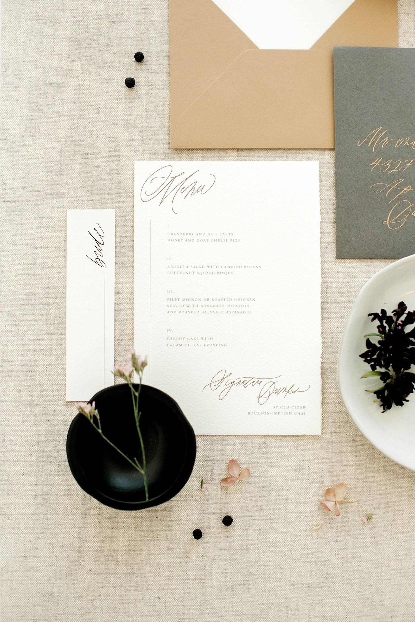 Modern Bridal Editorial At The Emerson Wedding Invitation Suites