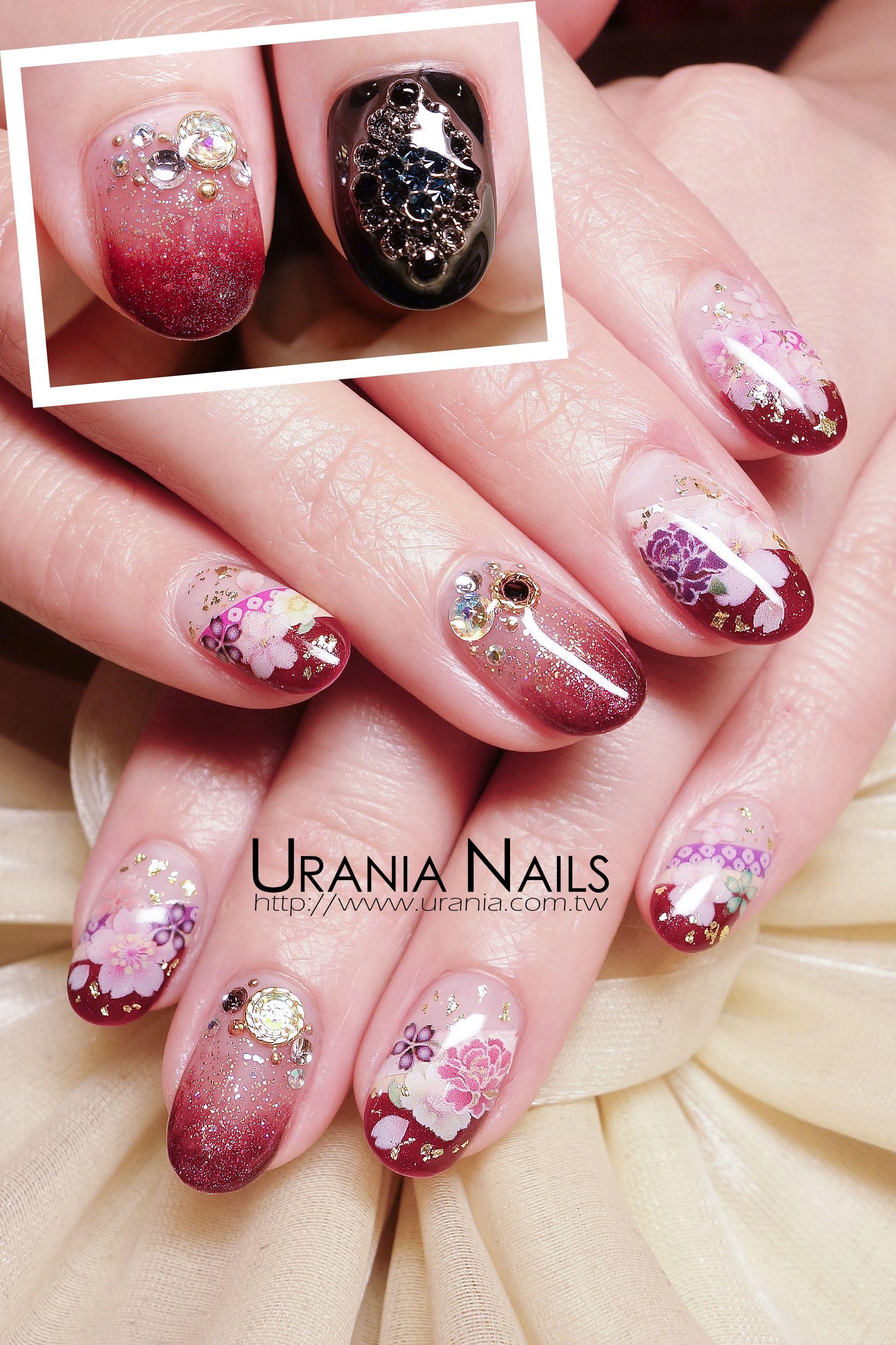 Gradation nails http://blog.urania.com.tw/?p=933 #nails #naildesign ...