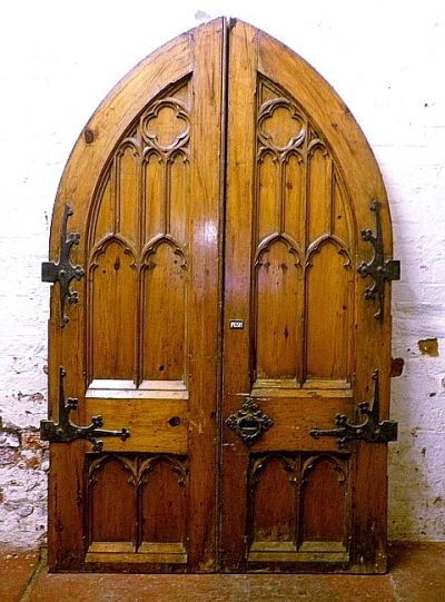 Gothic Pitch Pine Doors Doors House Front Door Arched