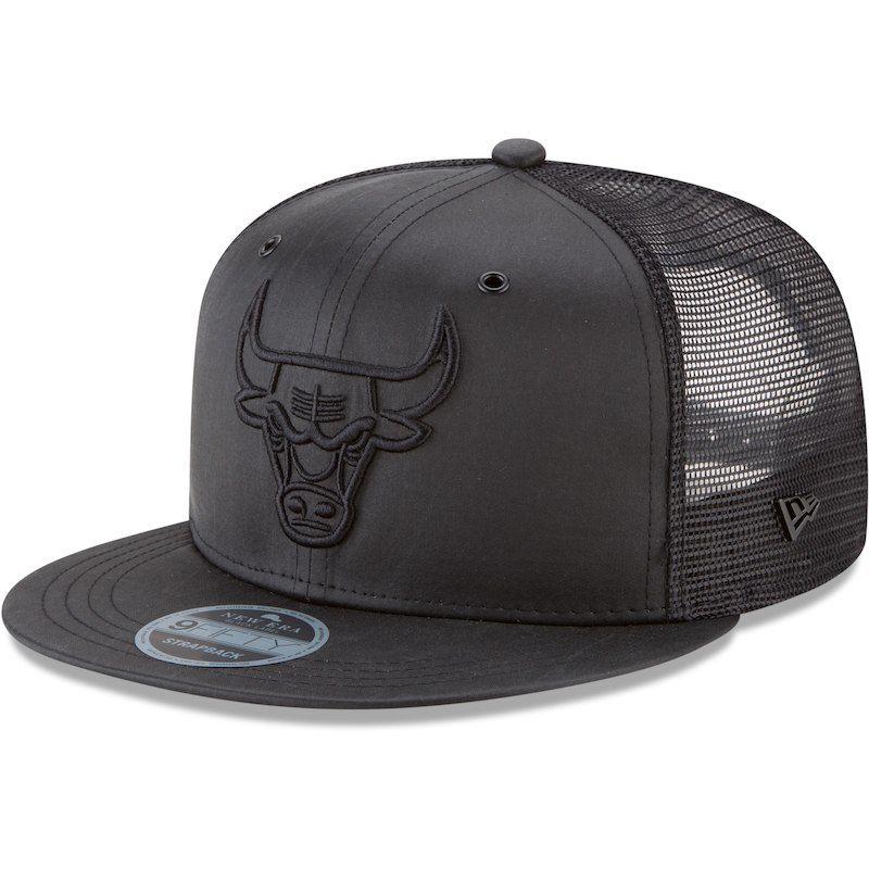 4ddc51cb54a Chicago Bulls New Era Label Moleskin Trucker 9FIFTY Adjustable Hat – Black