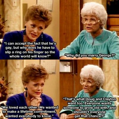 Are the golden girls gay