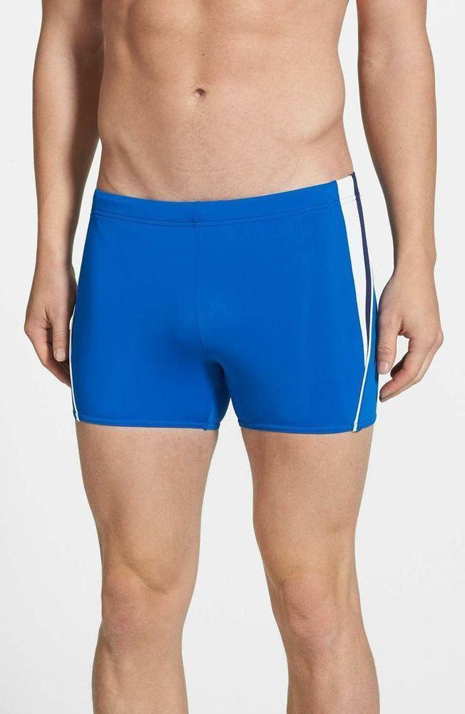 Men Fitness Swimming Trunks Square Cut Swimsuit
