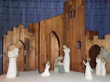 Moderne Weihnachtskrippe.Moderne Krippe Holz Weihnachten Holzarbeiten Holidays Moderne