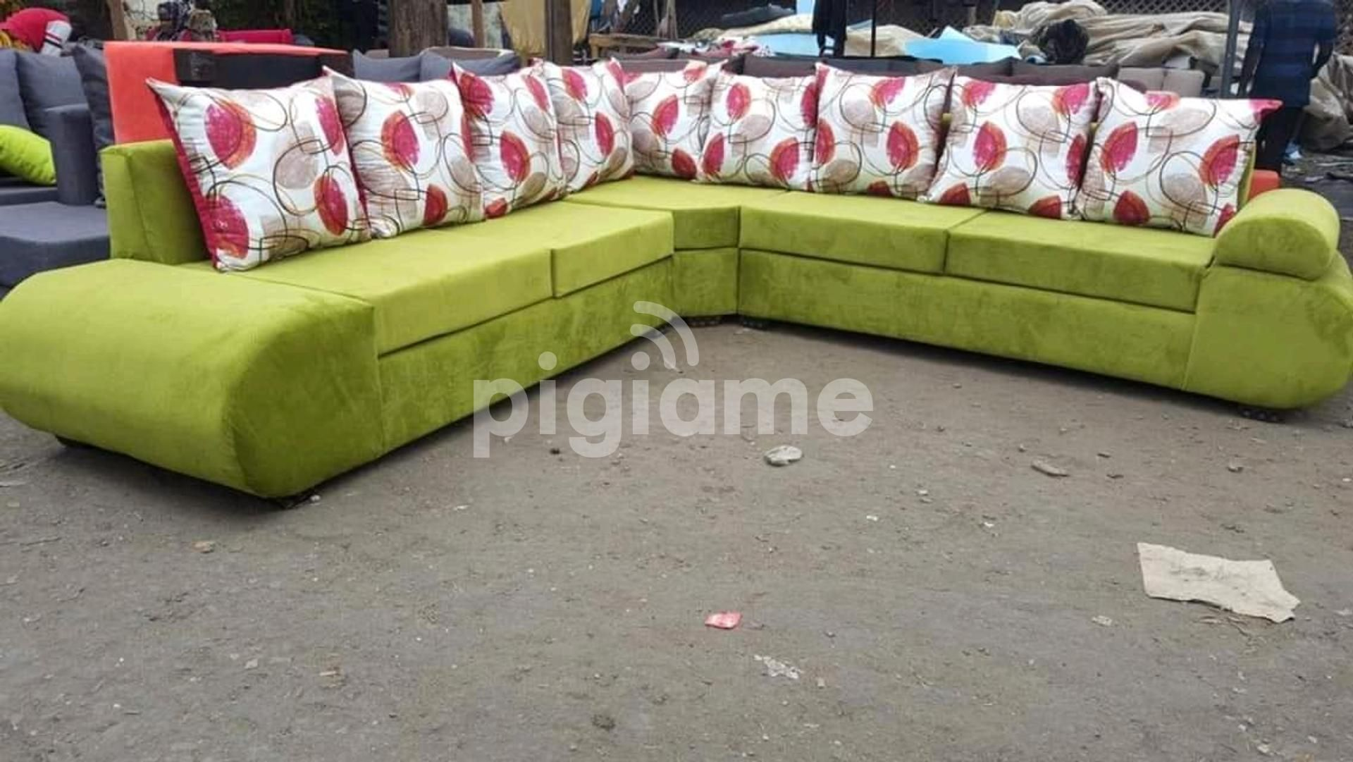 Sofa Set L Shape 7 Seater In Nairobi Pigiame In 2020 Sofa Set Designs Sofa Set Sofa Pictures