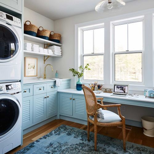 Sarah Off The Grid Washer And Dryer With Work Space Laundry Craft Rooms Laundry Room Design