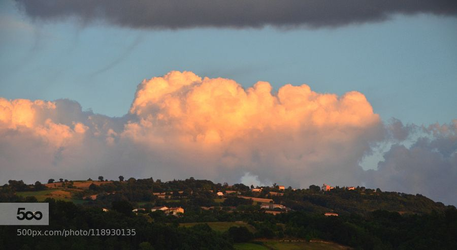 sunset on the hill by lucamoriconi #nature