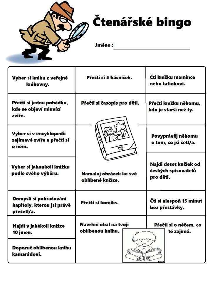 Čtenářské bingo