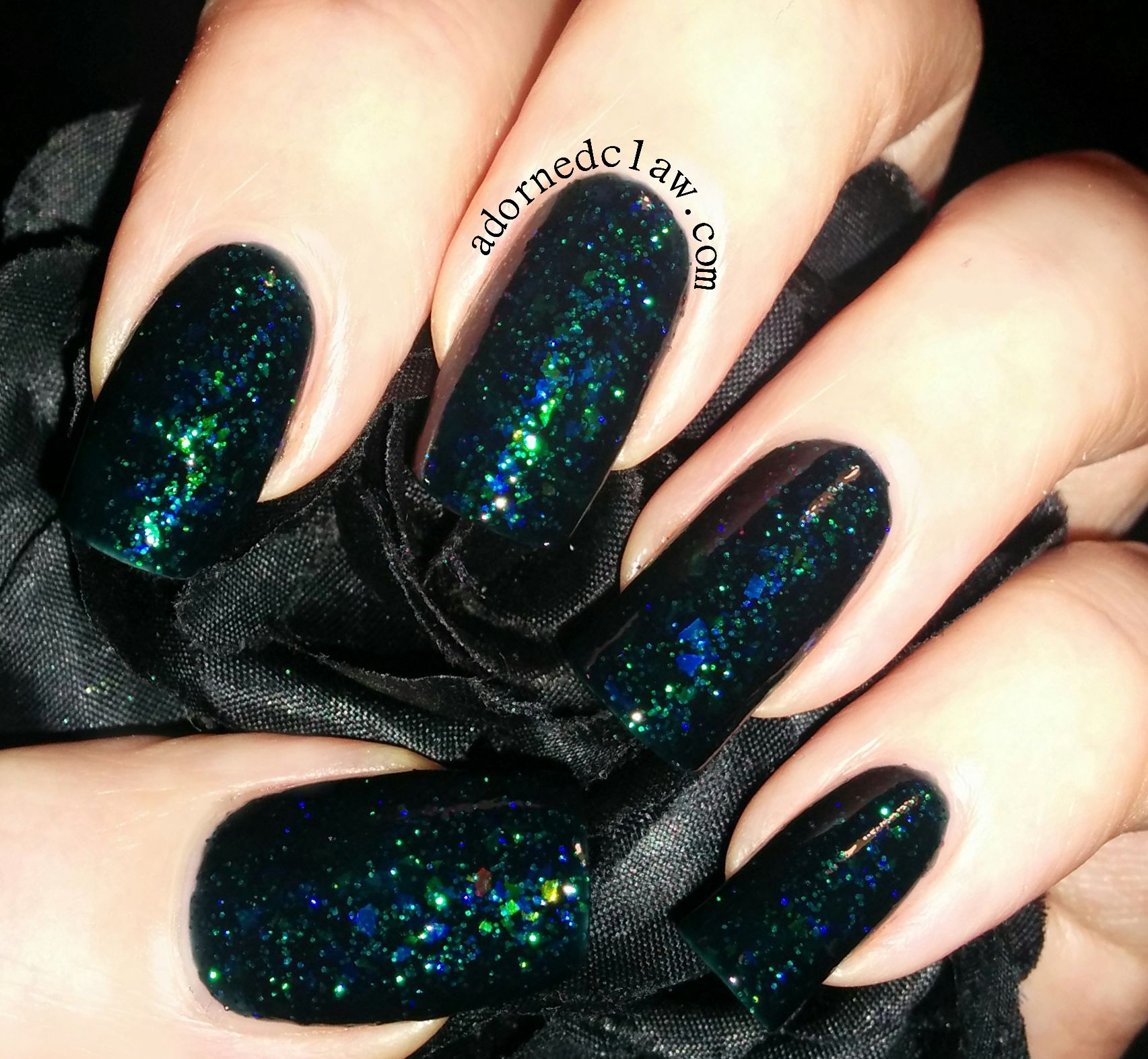 Awesome Dark Green Glitter Nail Polish Gallery - Nail Art Ideas ...