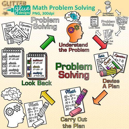 Clipart of a Cartoon School Girl Solving a Multiplication ...  |Art Math Problems