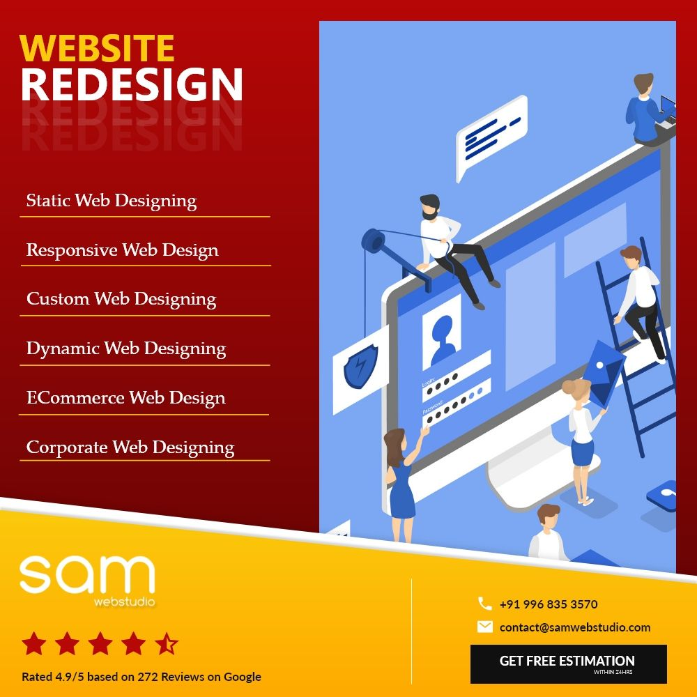 Re Designing Company | Website Designing Company in Delhi | SAM Web Studio