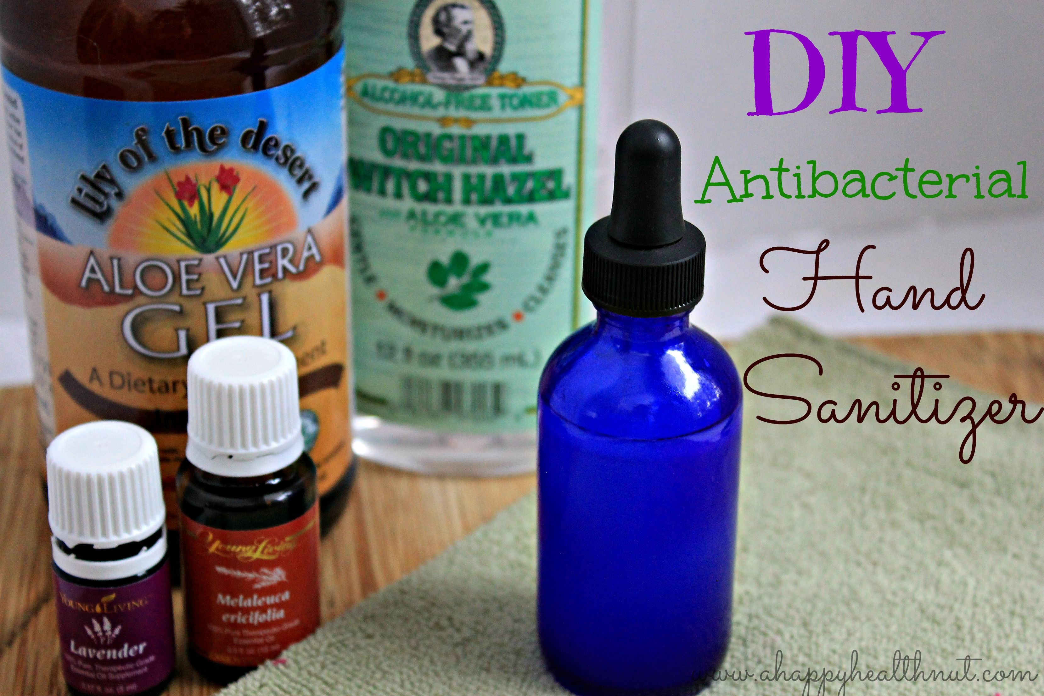 Diy Antibacterial Hand Sanitizer Hand Sanitizer Essential Oils