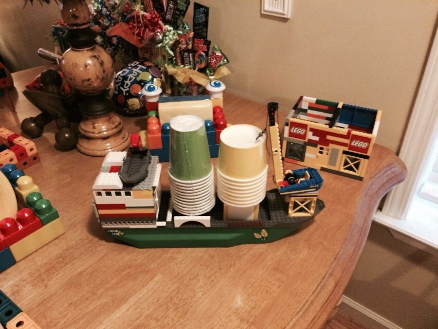 Lego decorations for Coy's b-day party.