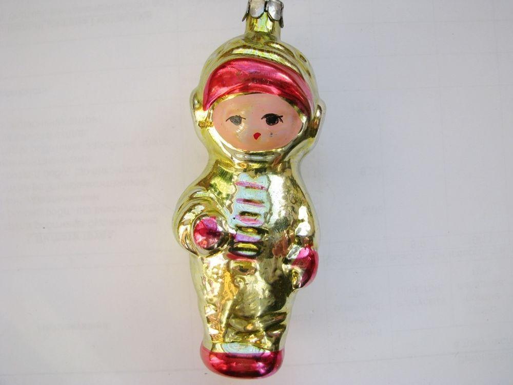 VTG SOVIET RUSSIAN GLASS ORNAMENT DECORATION Christmas TOY New Yer # 3 in Glass, Crystal | eBay