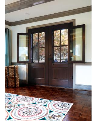 Breezeport 4 Lite Tdl Mahogany Double Entry Door With Choice Of Low