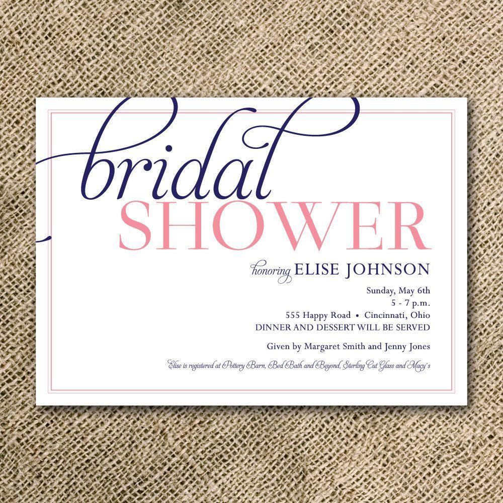 Reserved listing for julie bridal showers shower invitations and bridal shower invitation simple modern script 2700 via etsy filmwisefo