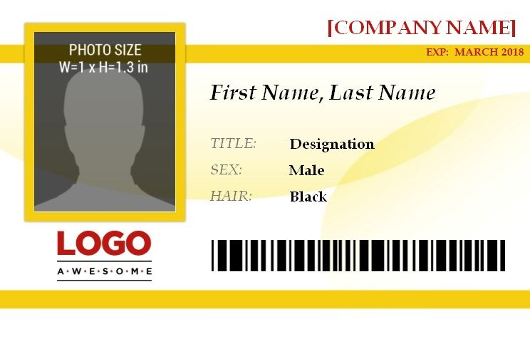 14+ Free ID Badge Templates Word, Excel  PDF Templates - free id badge templates
