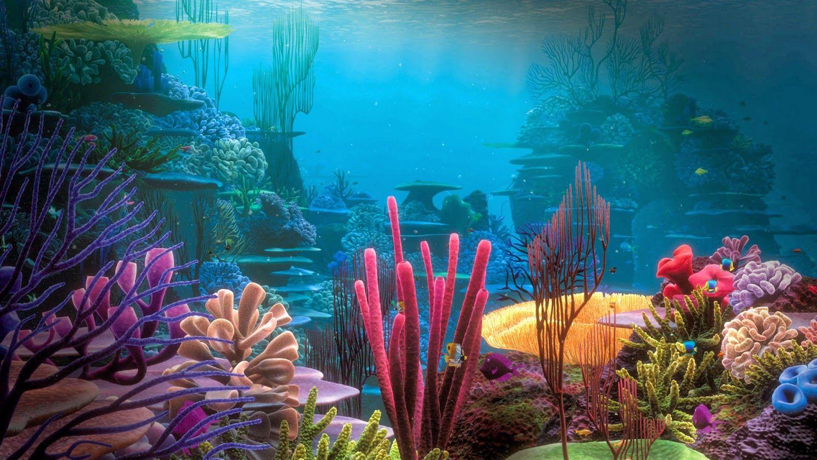 Little Mermaid Ocean Background