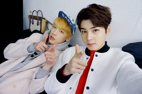 [30.03.16] Astro official twitter - SanHa e EunWoo