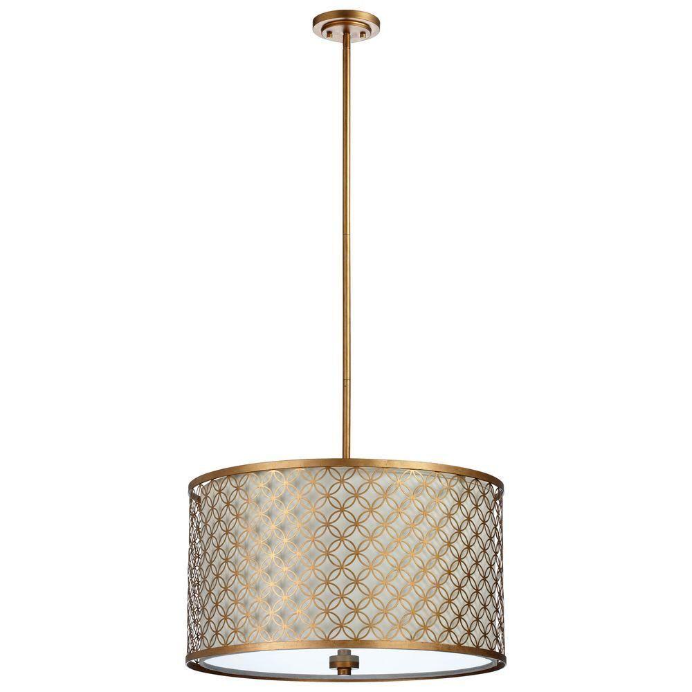 Filament Design Prospect 4-Light Gold Leaf Retro Art Pendant