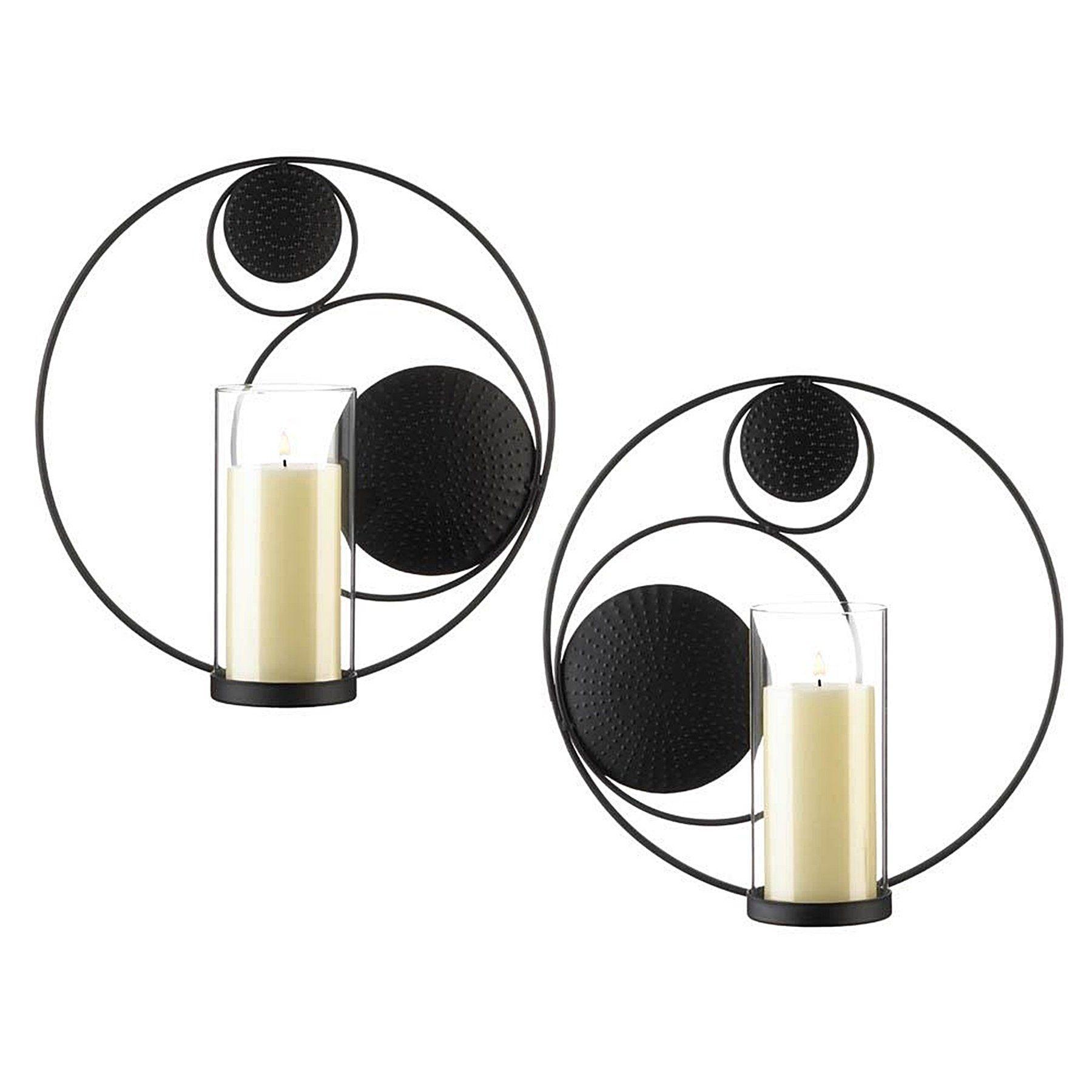 Hoover Elegant Candle Wall Sconces Set Of 2 Black Glass Candle Wall Sconces Candle Sconces Wall Sconces