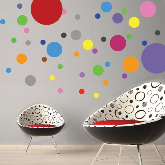 Mixed Polka Dot Wall Decals Polka Dot Wall Decals Polka Dot