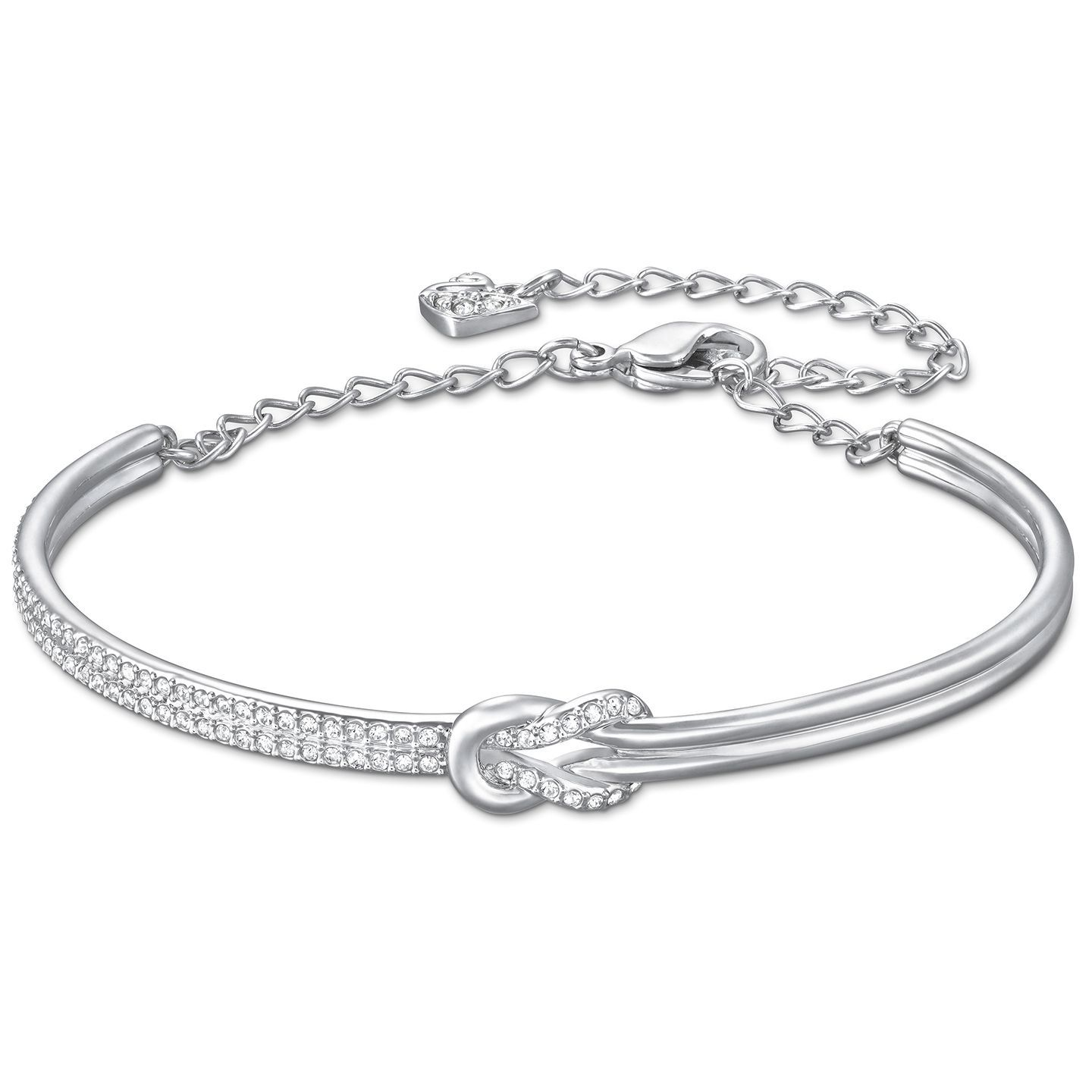 c29d139e1 Swarovski's Voile Bangle is both pretty and symbolic; featuring a knot  motif joining two halves, it makes the ideal wedding jewelry to represent  you tying ...