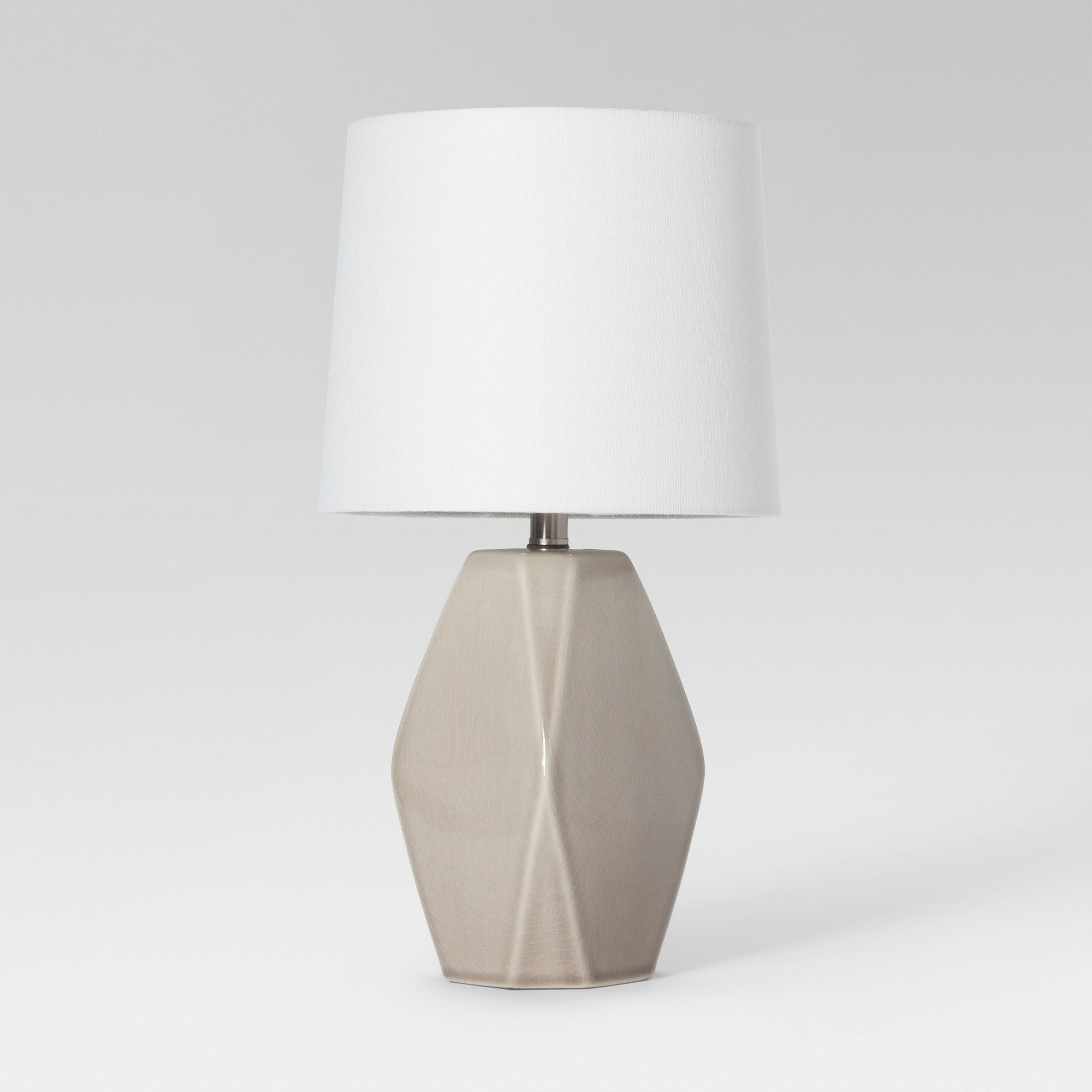 Modern Ceramic Facet Accent Table Lamp Gray Includes Energy ...