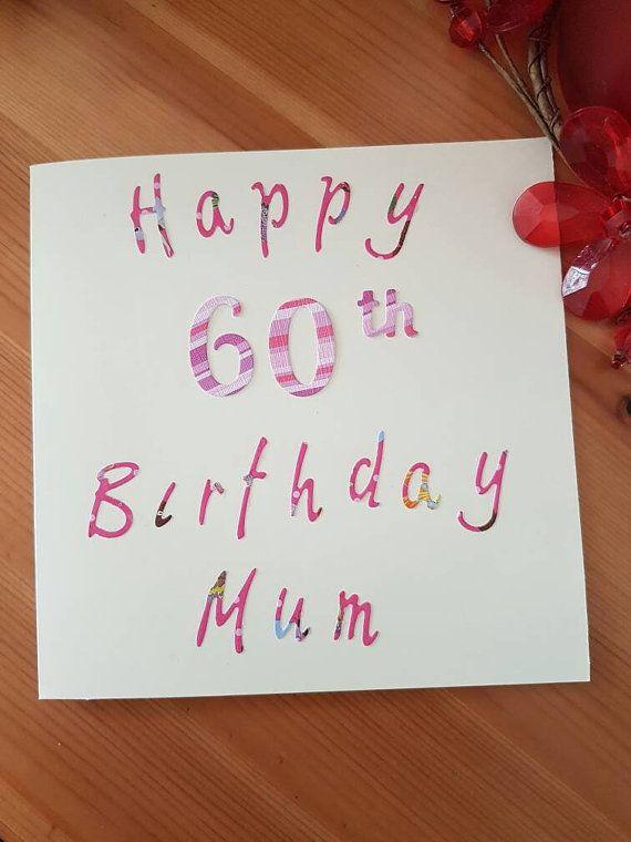 Birthday card mum 60th birthday card 50th by kardsbykrystal birthday card mum 60th birthday card 50th by kardsbykrystal bookmarktalkfo Image collections