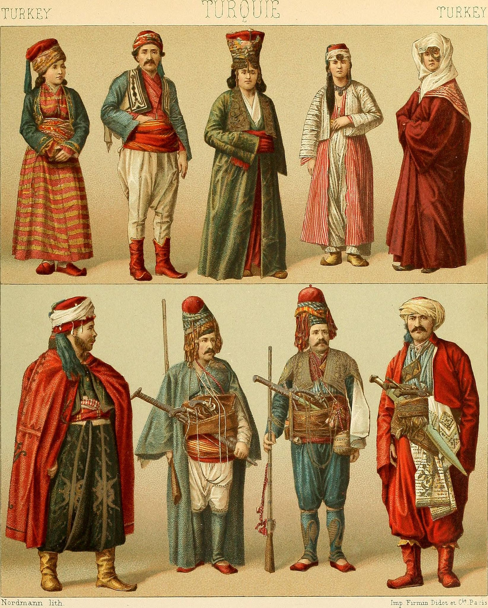 Image From Page 370 Of Le Costume Historique Cinq Cents Planches Trois Cents En Couleurs Or Et Argent Deux Cents En Camaieu Types Principaux Du Vetement E Ottoman Empire Turkish Clothing