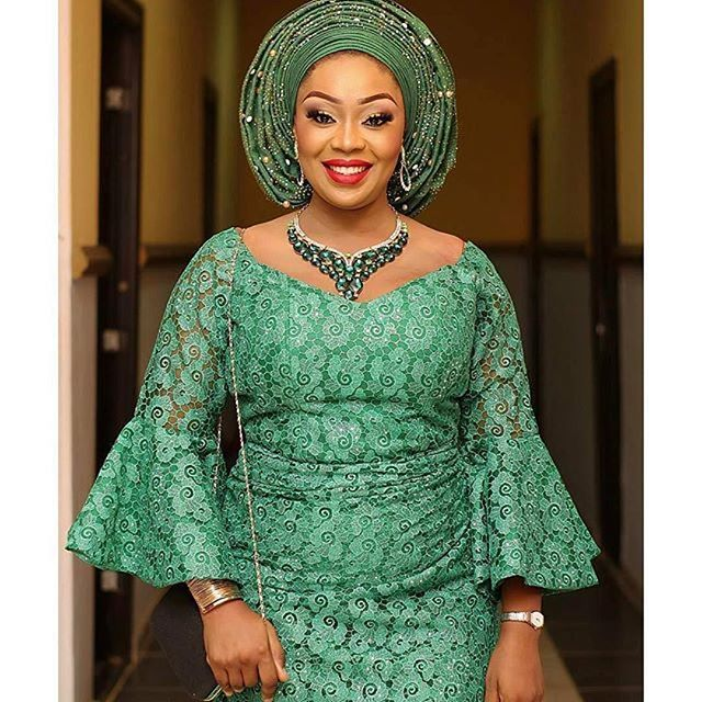 44f3e888fda0 Check Out Beautiful Iro and Blouse Lace Aso Ebi Styles - DeZango Fashion  Zone