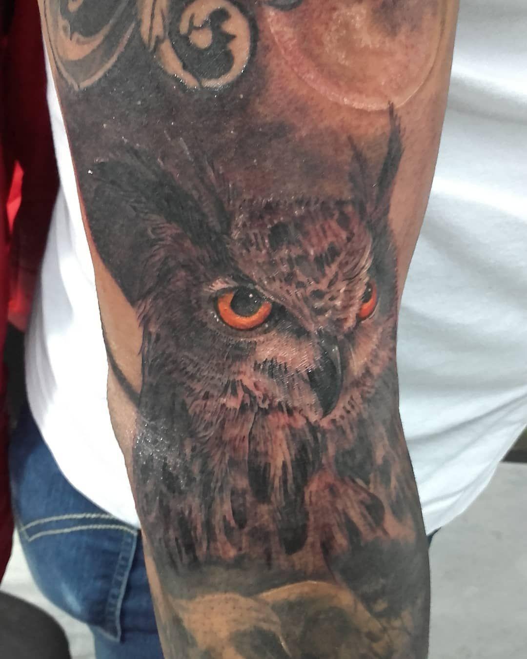 #tattoo #coruja #tattoocoruja #inkcolor #tattooblack #tatuajemujer #tattoooo #in...