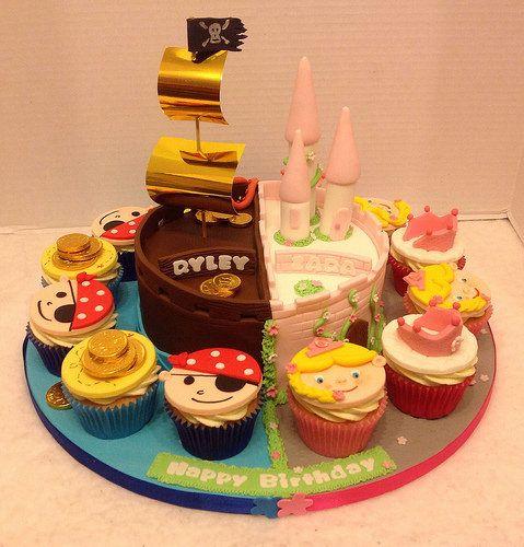 Pirate/Princess Cake And Cupcakes In 2020